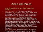 zionis danteroris