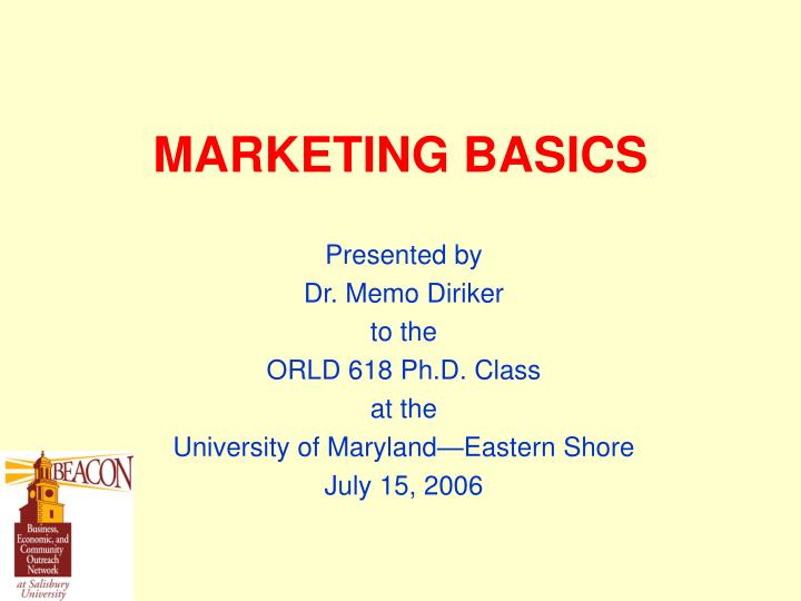 marketing basics n.