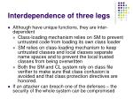 interdependence of three legs