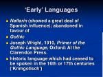 early languages1