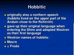 hobbitic