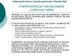 implementacija robnog zapisa i o ekivani efekti