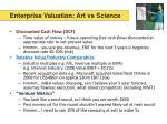 enterprise valuation art vs science