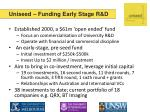 uniseed funding early stage r d