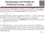 reasoning patterns in propositional logic