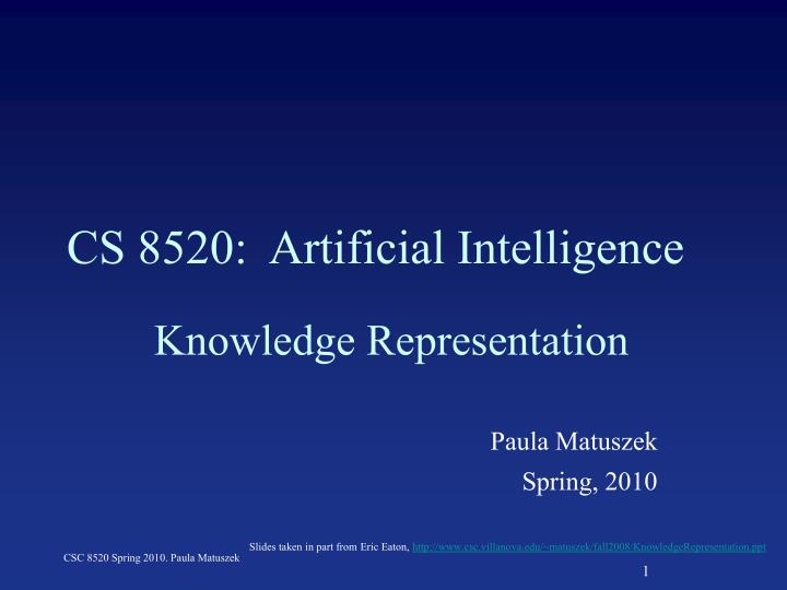 cs 8520 artificial intelligence n.