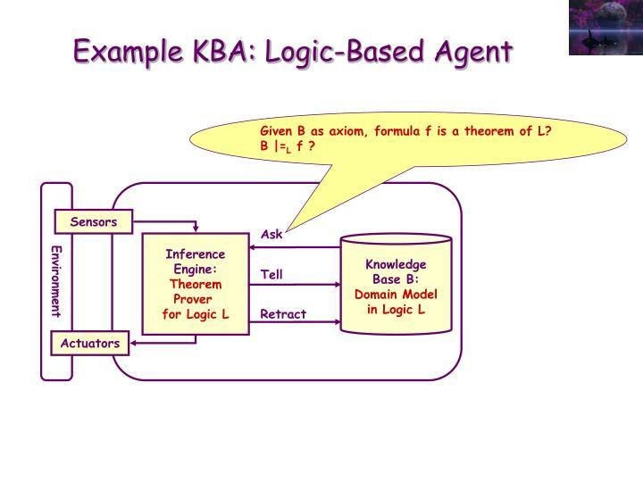 Example KBA: Logic-Based Agent