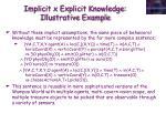 implicit x explicit knowledge illustrative example1