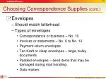 choosing correspondence supplies cont2