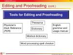 editing and proofreading cont