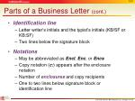 parts of a business letter cont3