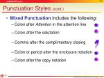 punctuation styles cont
