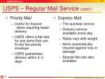 usps regular mail service cont1