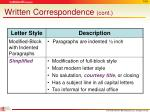 written correspondence cont2