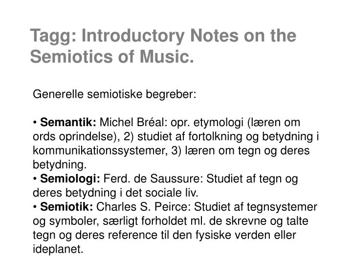 tagg introductory notes on the semiotics of music n.