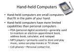hand held computers