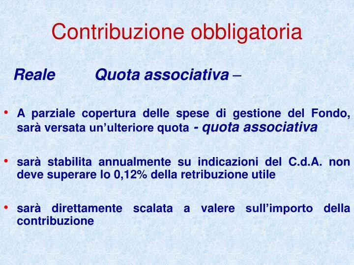 Contribuzione obbligatoria