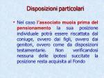 disposizioni particolari