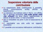 sospensione volontaria della contribuzione