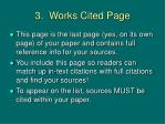 3 works cited page