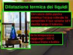 dilatazione termica dei liquidi