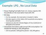 example lpg no local data