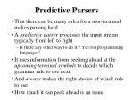 predictive parsers