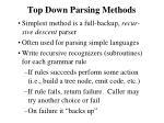top down parsing methods