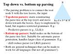 top down vs bottom up parsing