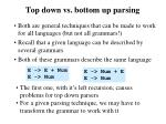 top down vs bottom up parsing1
