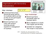 organizations with partnership characteristics1
