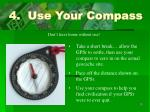 4 use your compass