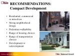 recommendations compact development