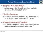 active clients adaptation goals