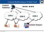 content multihoming is widely used