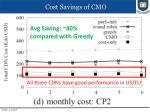 cost savings of cmo1
