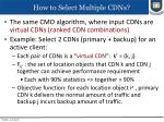 how to select multiple cdns