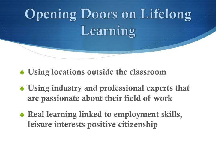 opening doors on lifelong learning n.