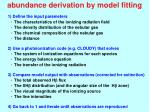 abundance derivation by model fitting