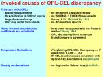 invoked causes of orl cel discrepancy