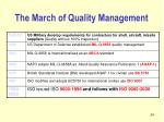the march of quality management
