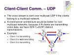 client client comm udp