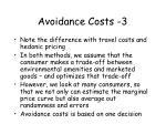 avoidance costs 3