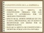 constituci n de la empresa