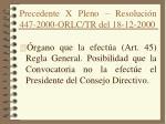 precedente x pleno resoluci n 447 2000 orlc tr del 18 12 2000