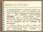 resol n 038 2013
