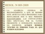 resol n 089 2009