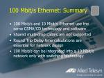 100 mbit s ethernet summary