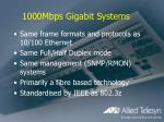 1000mbps gigabit systems