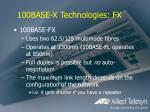 100base x technologies fx